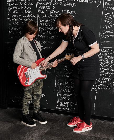 School of Rock has experienced music instructors