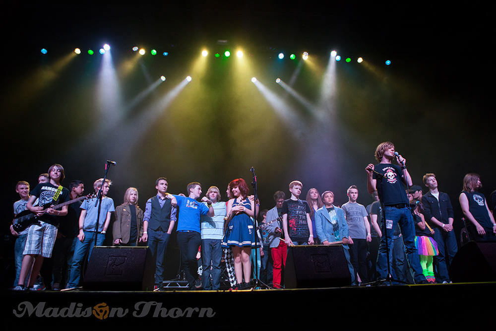 School of Rock Ballwin students take a bow after our Best of Season show at the Pageant May 17, 2014