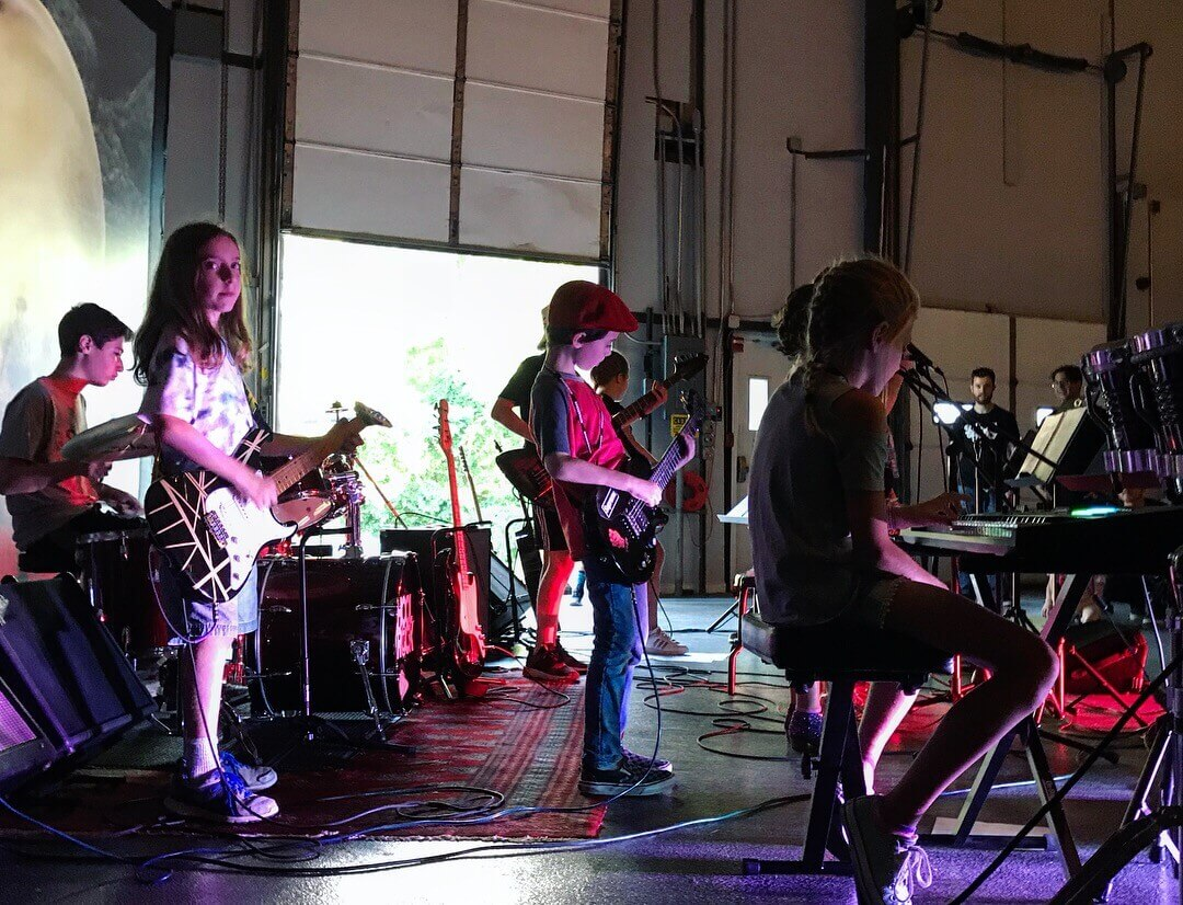 Our British Invasion Camp performs at Exhibit 'A' Brewing Company.