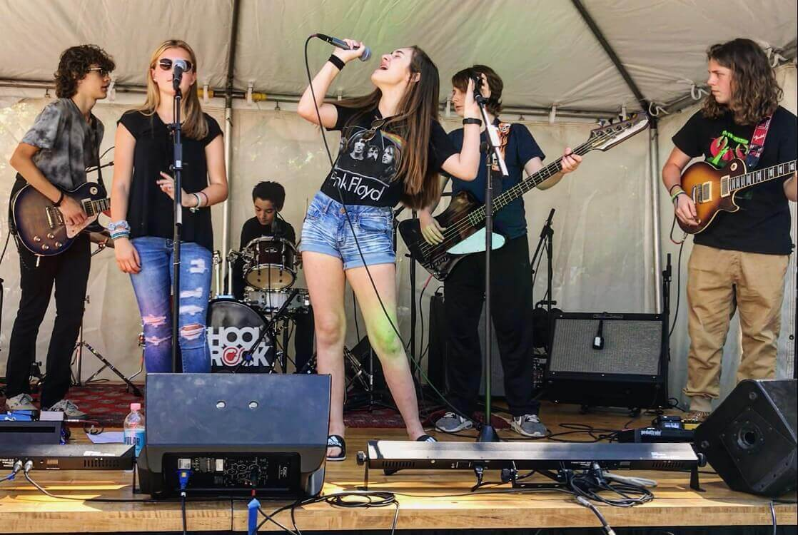 Our House Band performs at a local music festival, Demo Tape Fest.