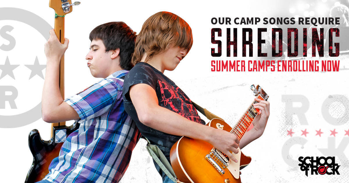 Enroll your kids in a School of Rock Summer Camp. Give them the chance to make summer memories that are electrifying.