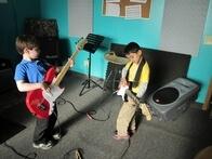 Eden Prairie School of Rock Rookies jammin' before class starts!