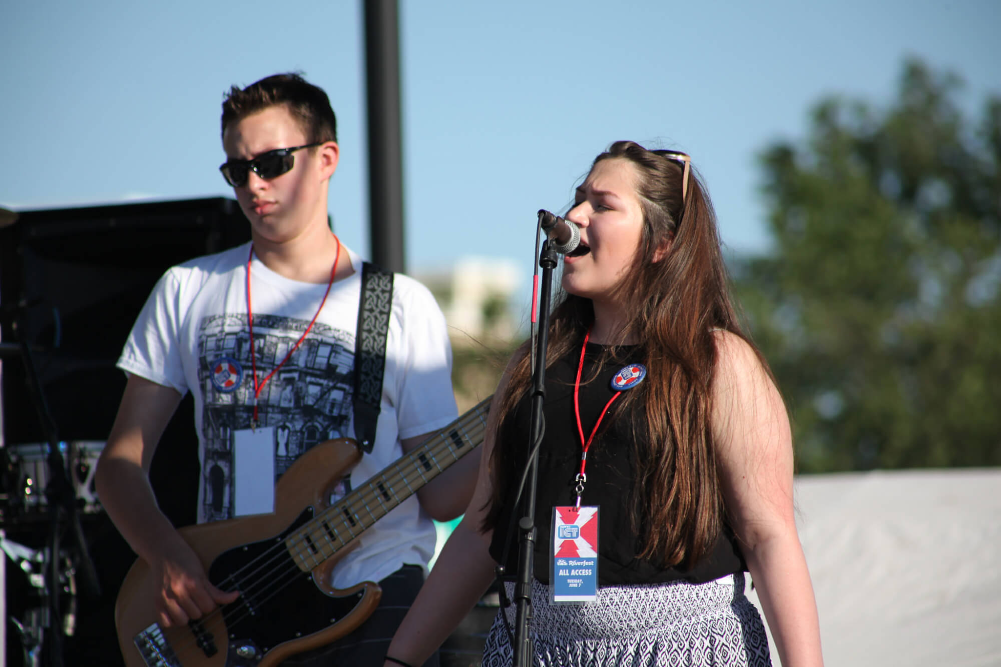 Dorothy's Revenge, School of Rock Wichita house band, playing at Riverfest 2016.