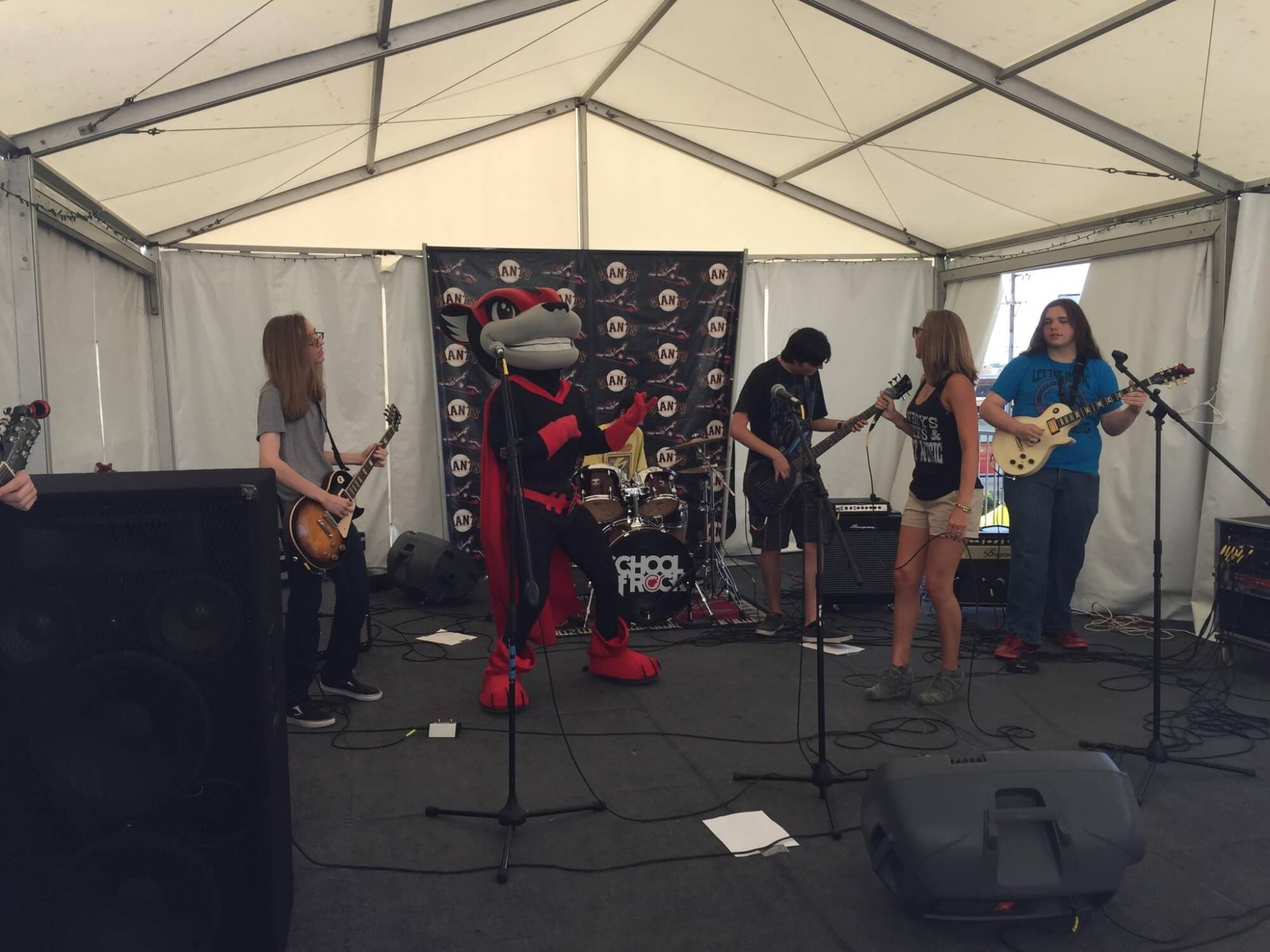 House Band Plays the Diamond for the RIchmond Squirrels  Pre-game