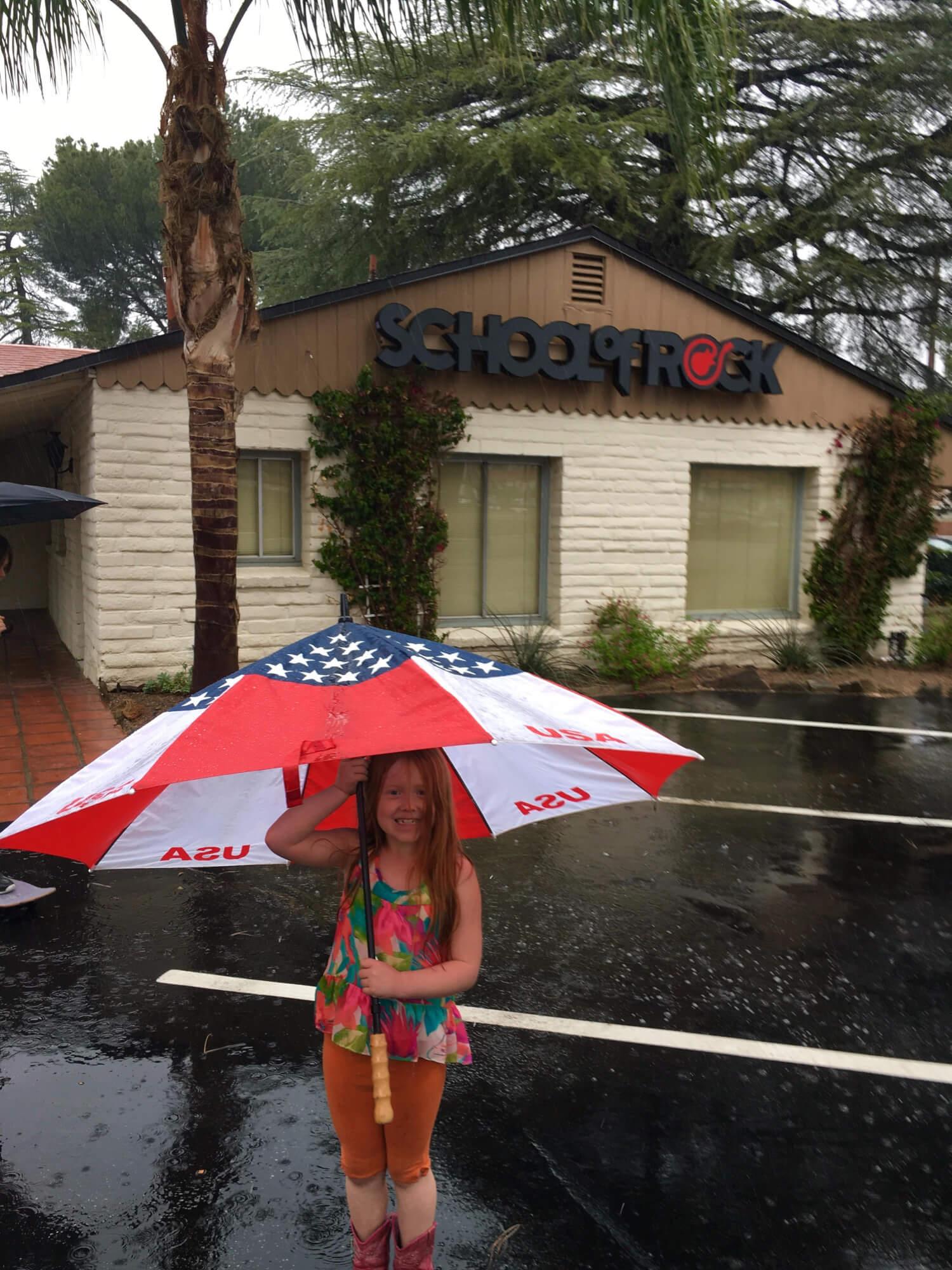 In Santa Clarita even the rain can't stop the ROCK!
