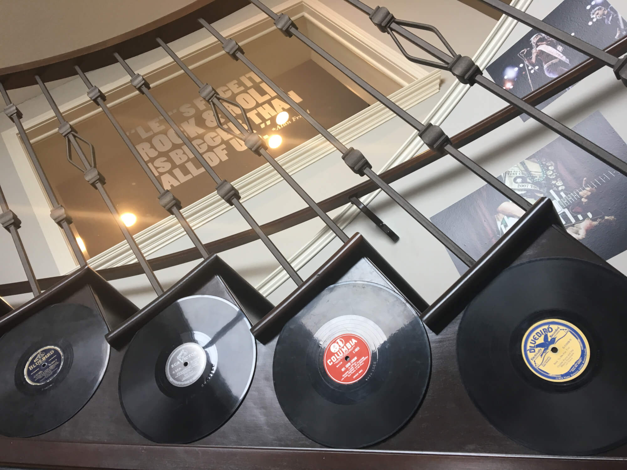 Are those records? Yes! We've decorated our School of Rock Calgary South to show off a bit of the history of music