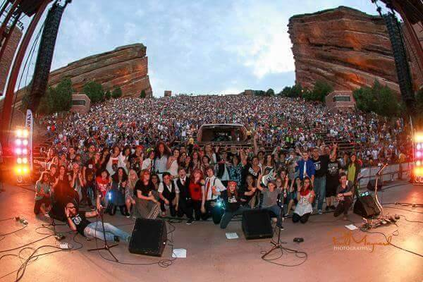 School of Rock at the infamous music venue, Red Rocks