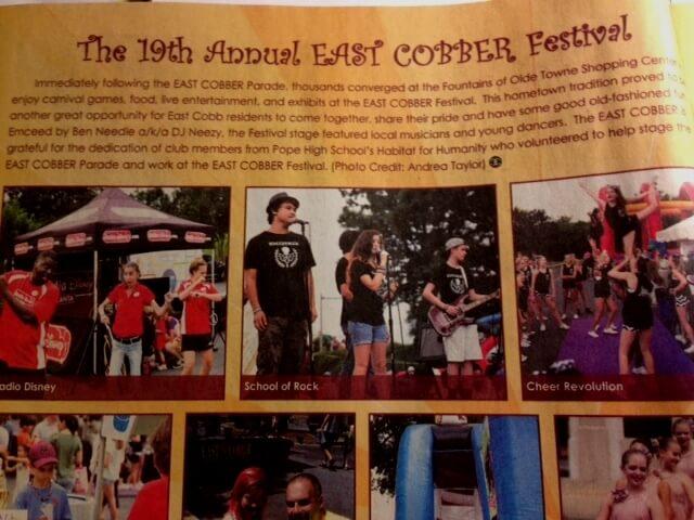 East Cobber Parade & Festival, House Band ROCKED East Cobb, September 13, 2014