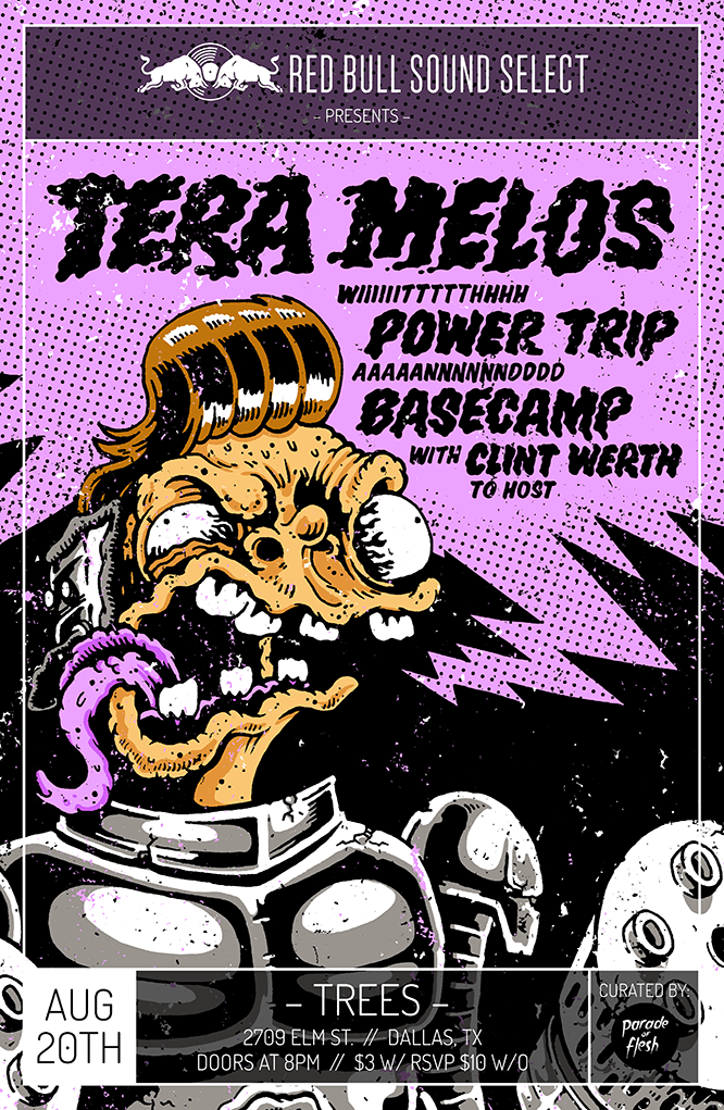 Have you heard Tera Melos? Well dang it, they are awesome and are inviting a select few kids to a meet and greet, to watch their soundcheck, and be allowed access into their 18-and-over show at Tree's next Thursday night, August 20 (tickets are only $3). Email Marty to secure one of the very limited spots!