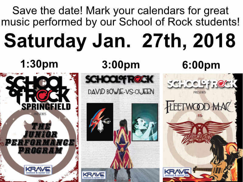 Come out to see our big shows January 27th! For more information look at the calendar listing.