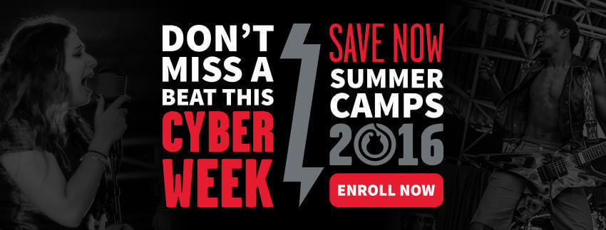 40% Off Summer Camps - Cyber Week Special!  One Week Only! Purchase by 12/5/2015