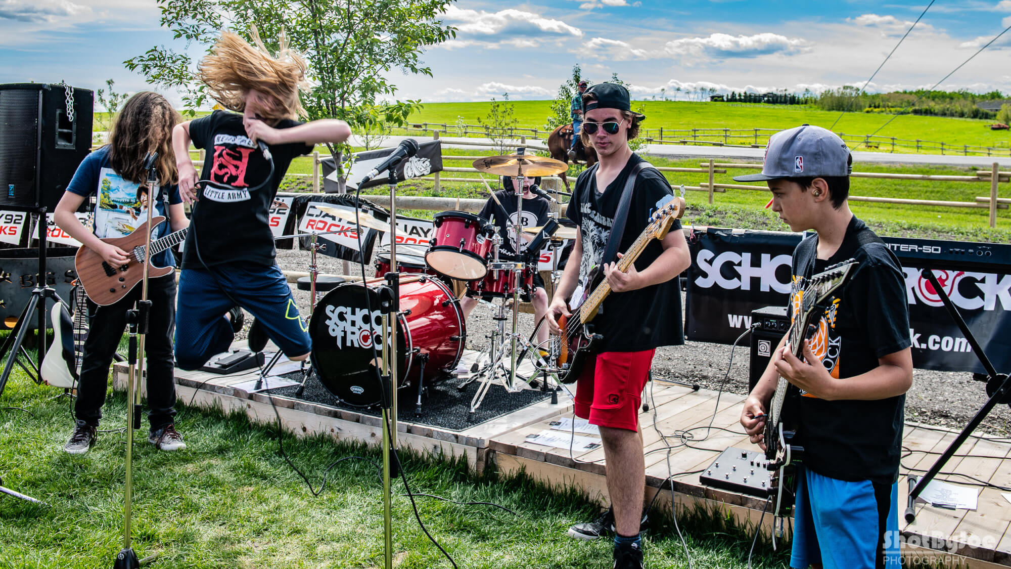 Our House Band plays many outdoor shows over the summer.