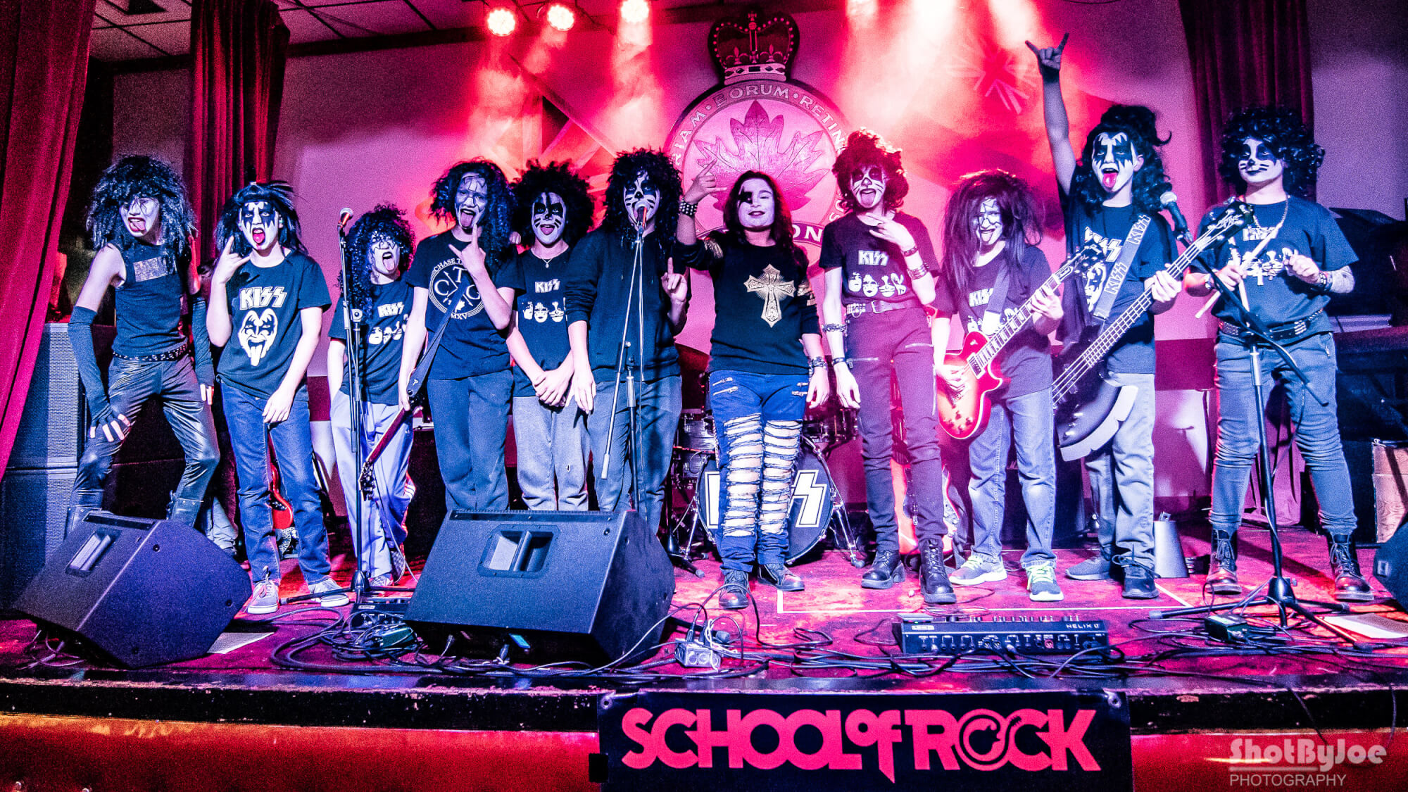 Our Performance band doing a KISS show.