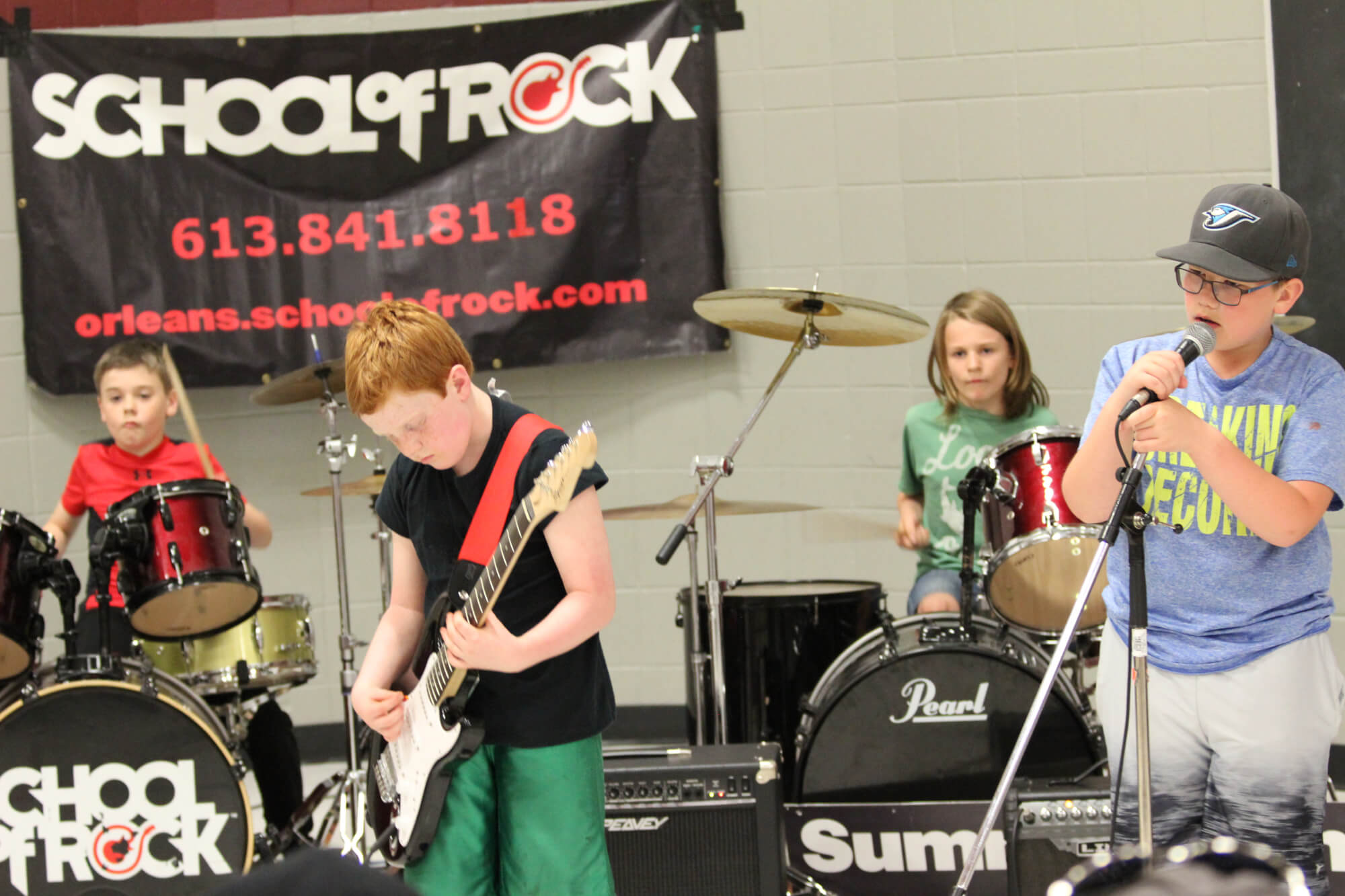 Rock 101 students in action.