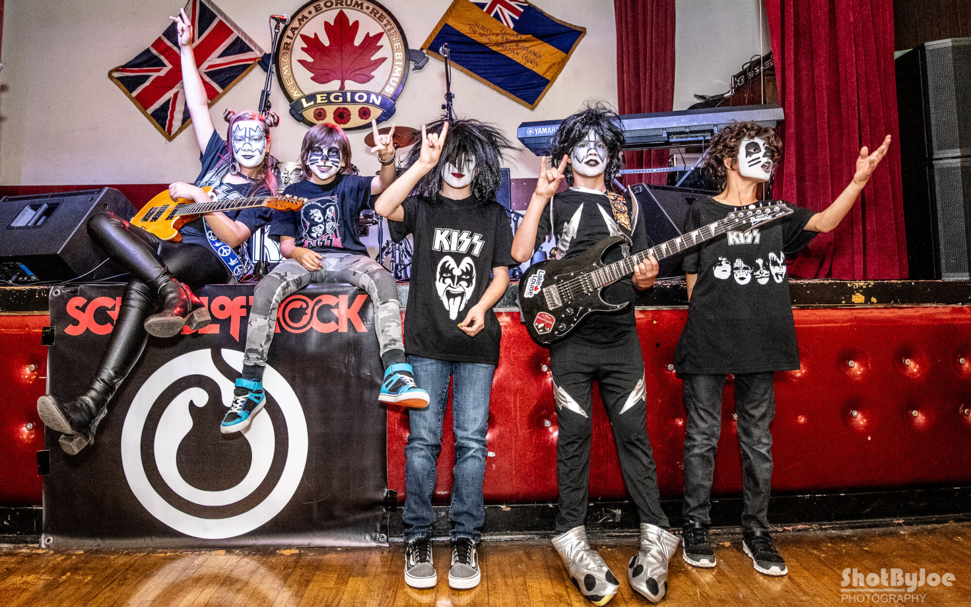 Our Rock 101 kids at the KISS show.