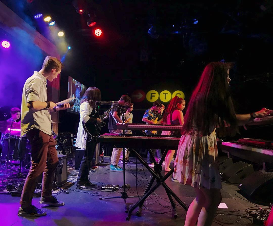 Students in the Classic Progressive Rock show perform at The Warehouse at Fairfield Theatre Company.