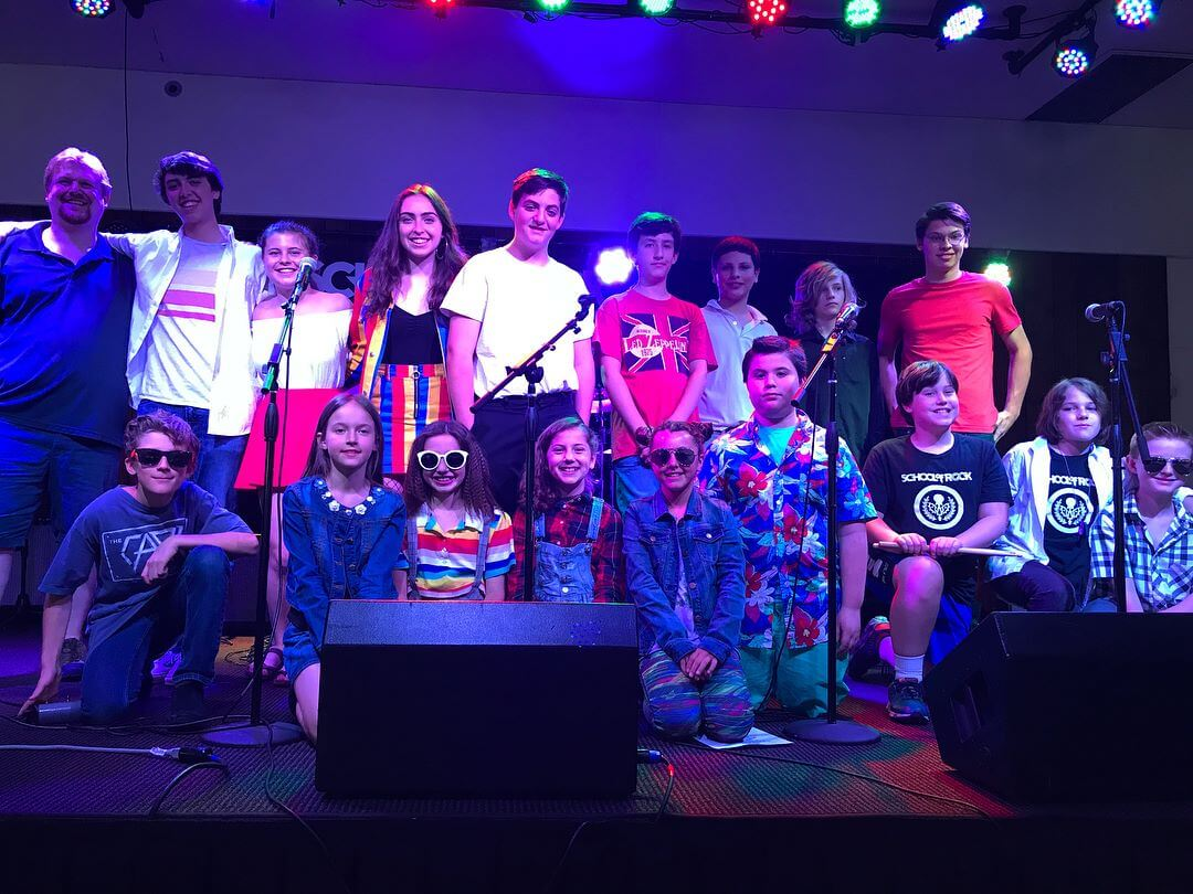 Students pose onstage after their show at The Heights at Brother's Vic in South Salem, NY.