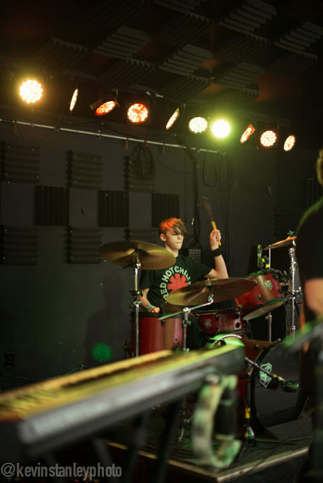 Jack killing it on the drums.