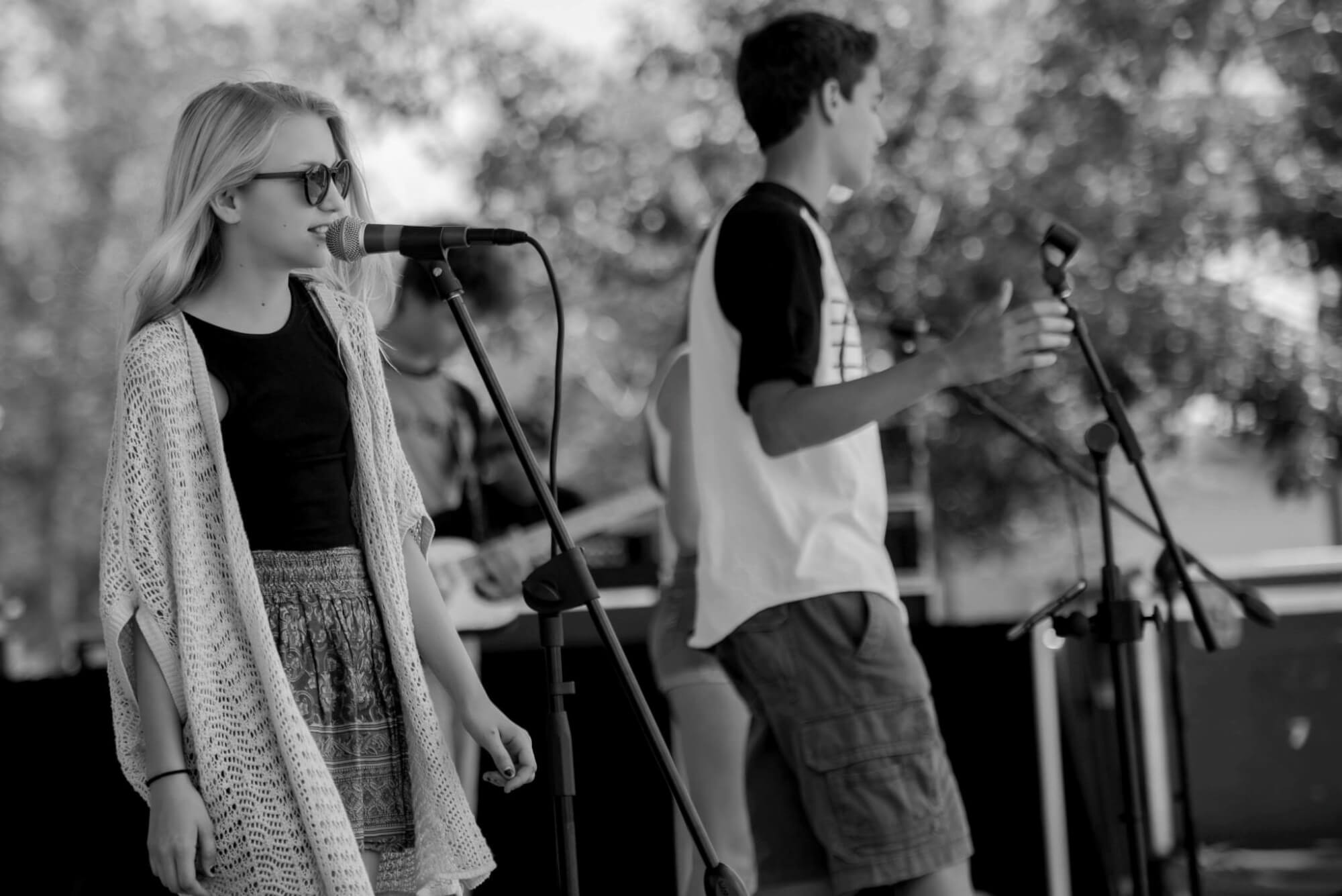 Playing a gig in Fort Lauderdale at Esplanade Park.