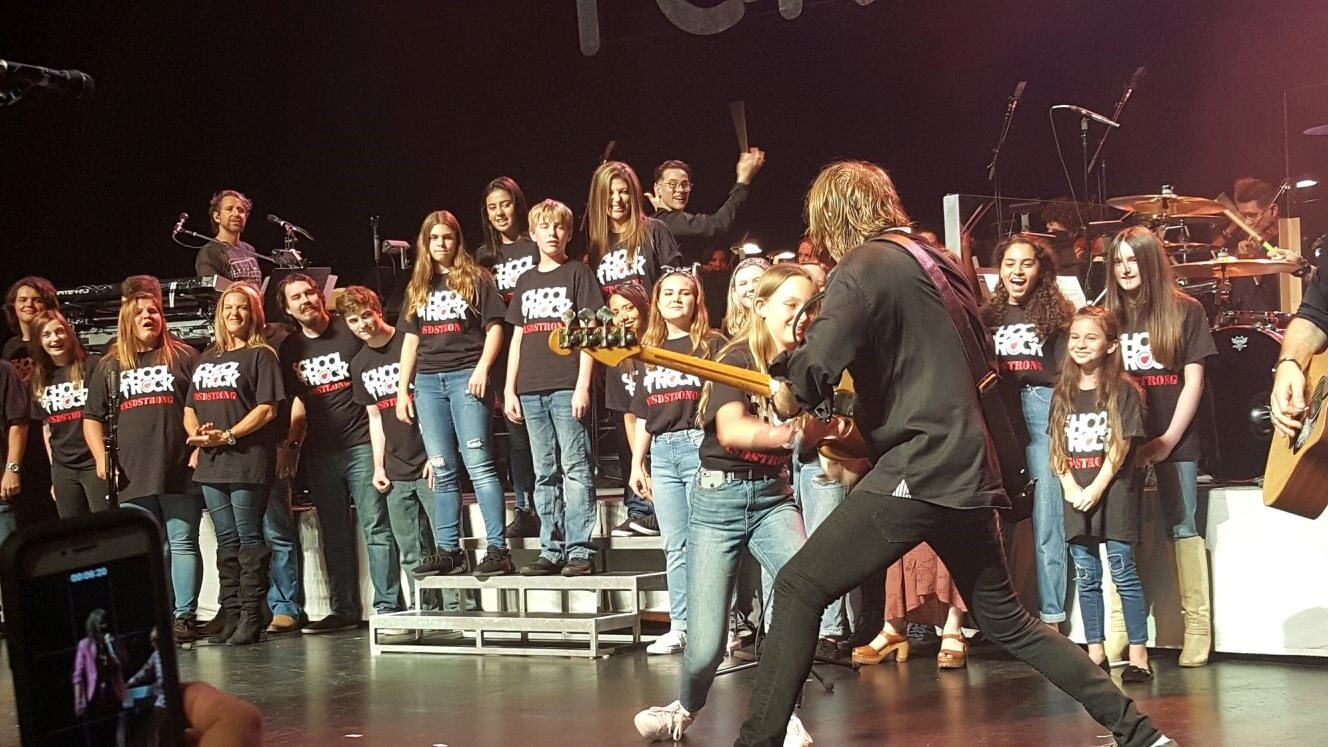 Our vocal students got the opportunity to perform with the band Foreigner.