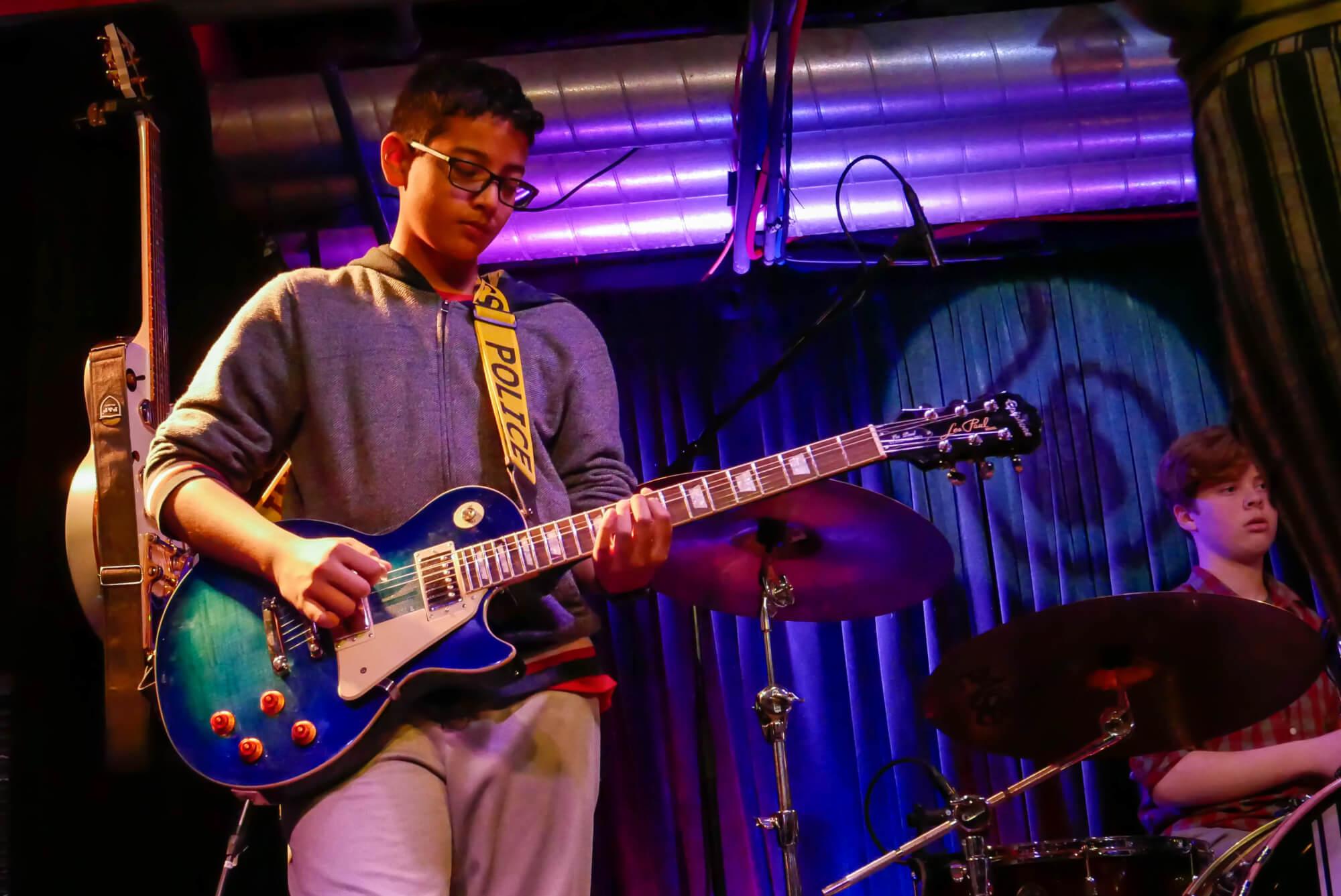 Tanush On Guitar.