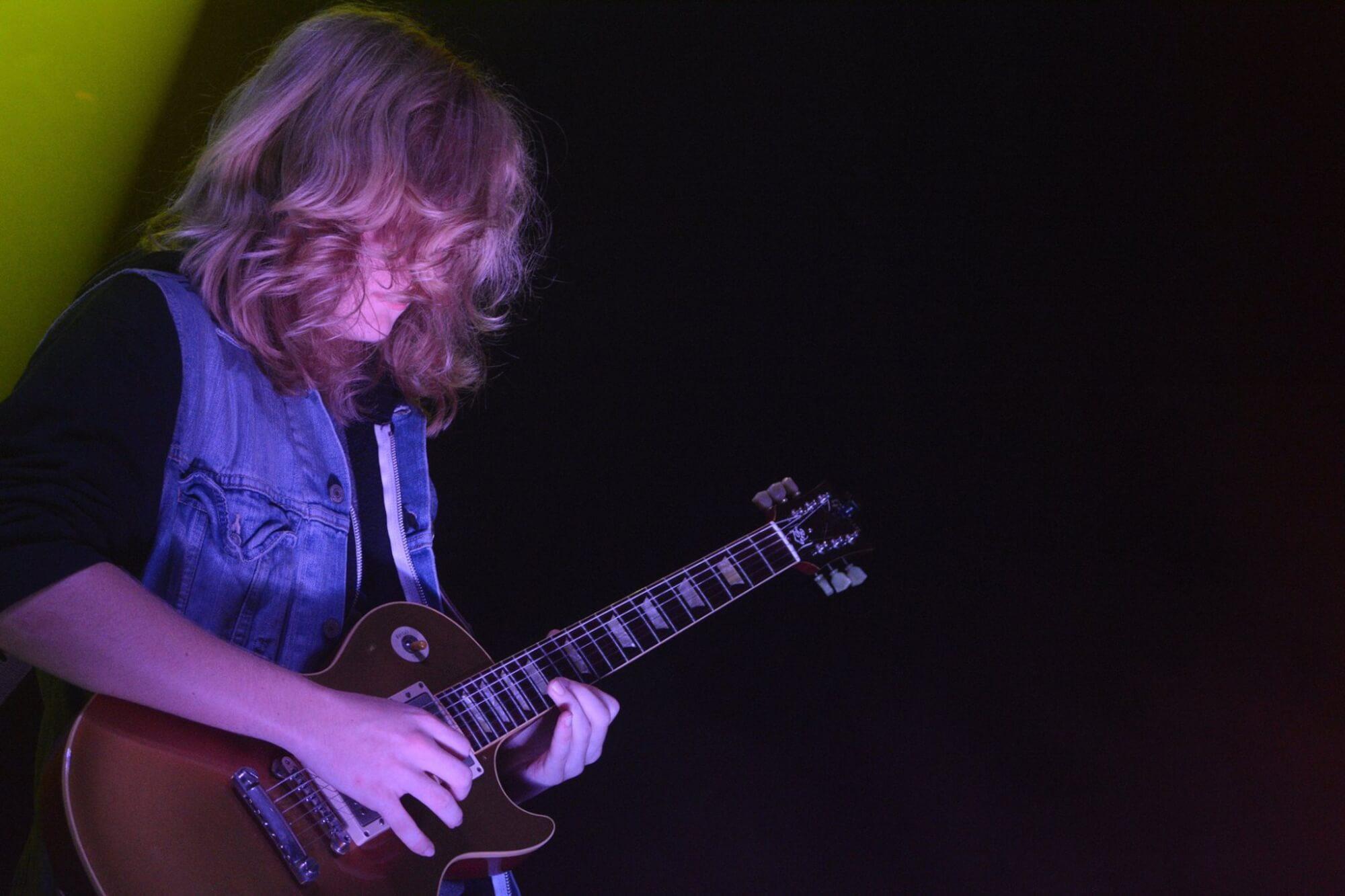 Seth performing a guitar solo.