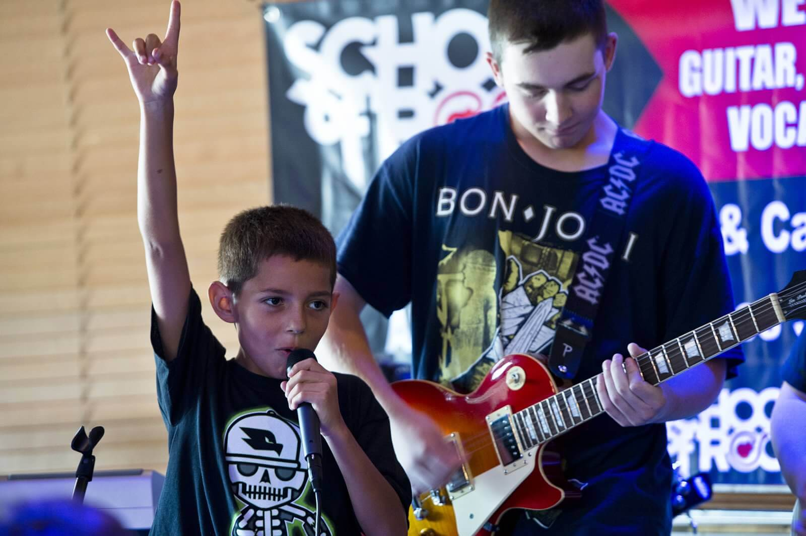 Become a musician and perform onstage.