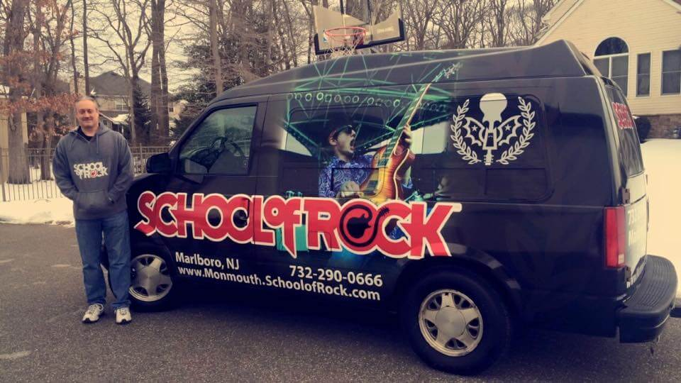 The band van in all its glory.