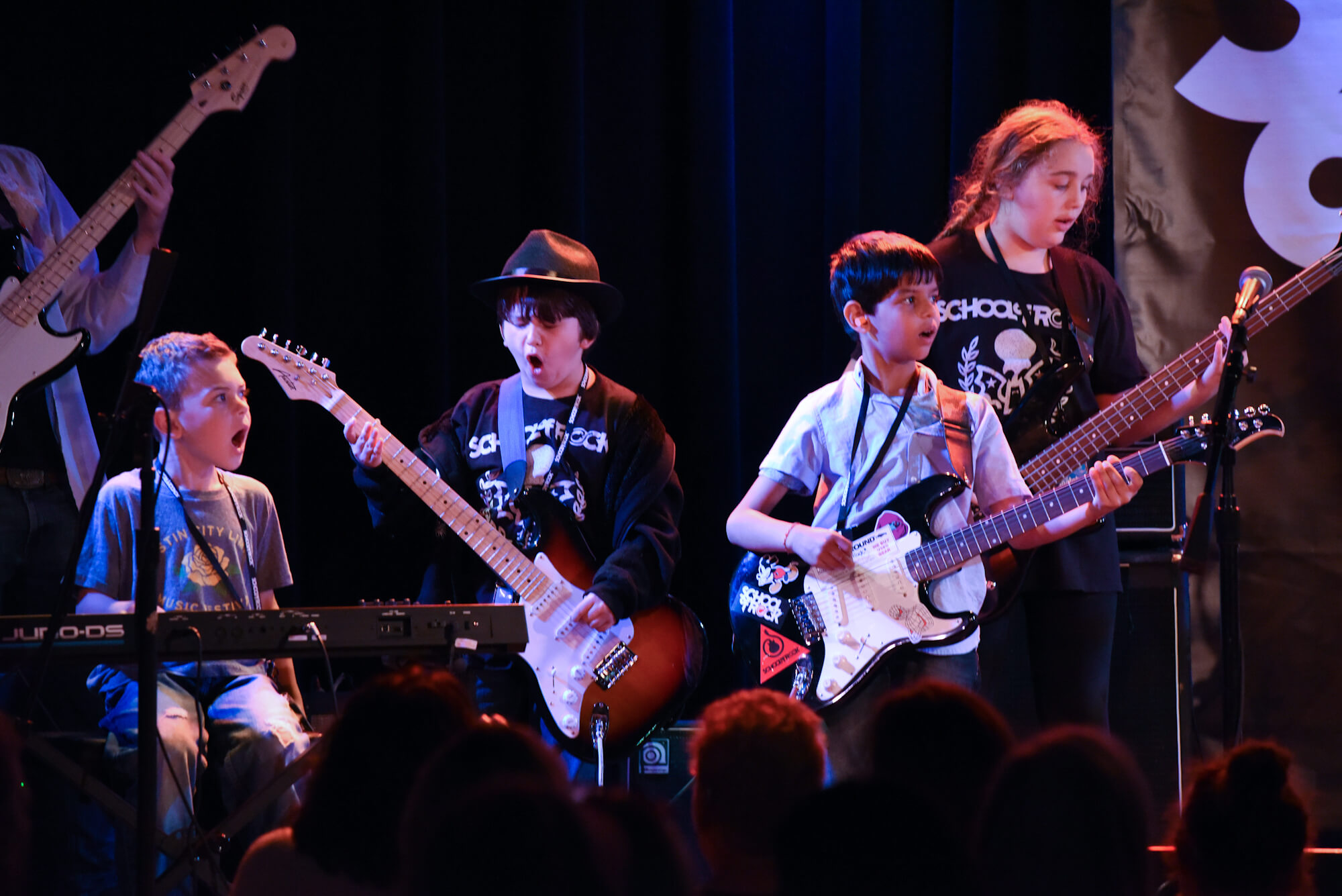 Luke, Ryne, Parth and Larken performing