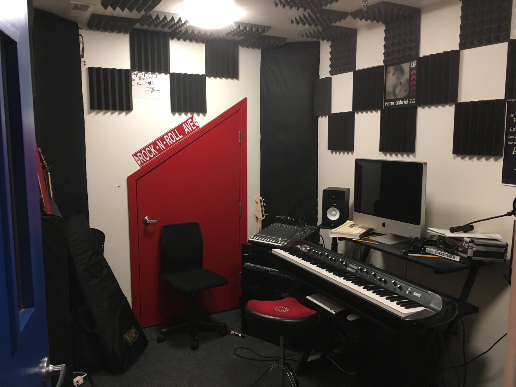 Our School's Recording Station.