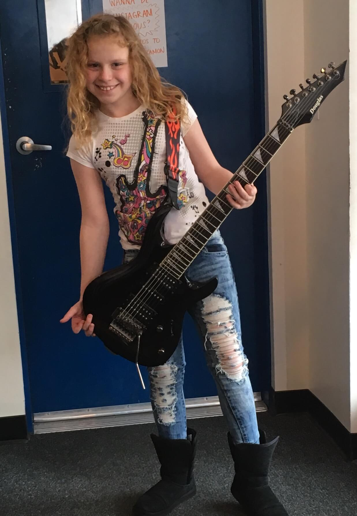 Never too young to rock out.