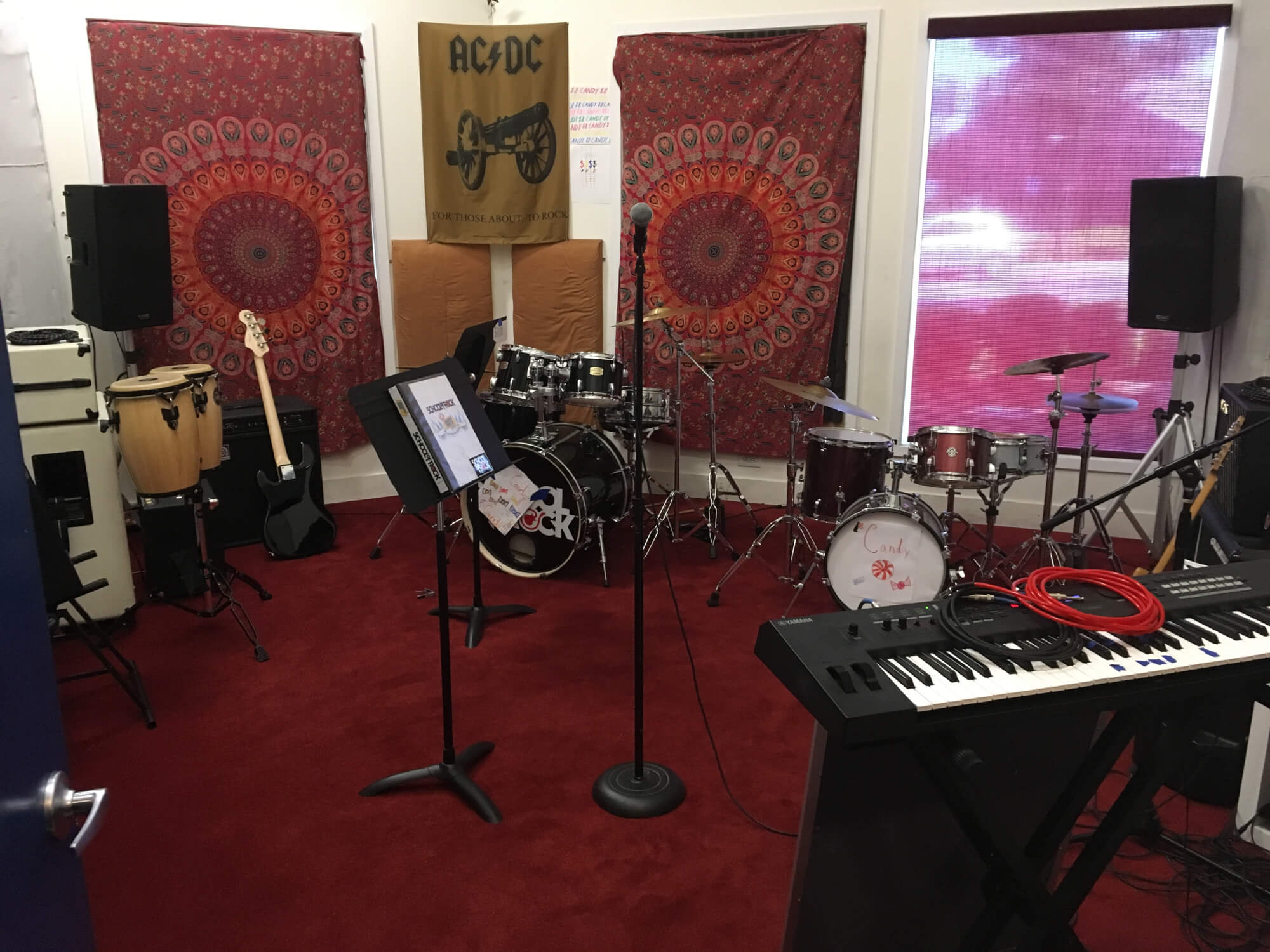 Our warfield rehearsal room.