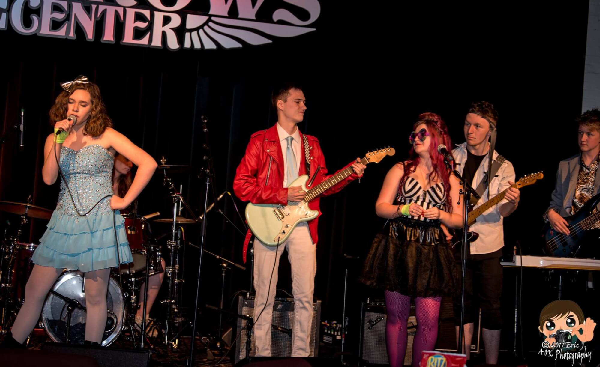 Our students performing a B-52's set at The Narrows Center in Fall River.