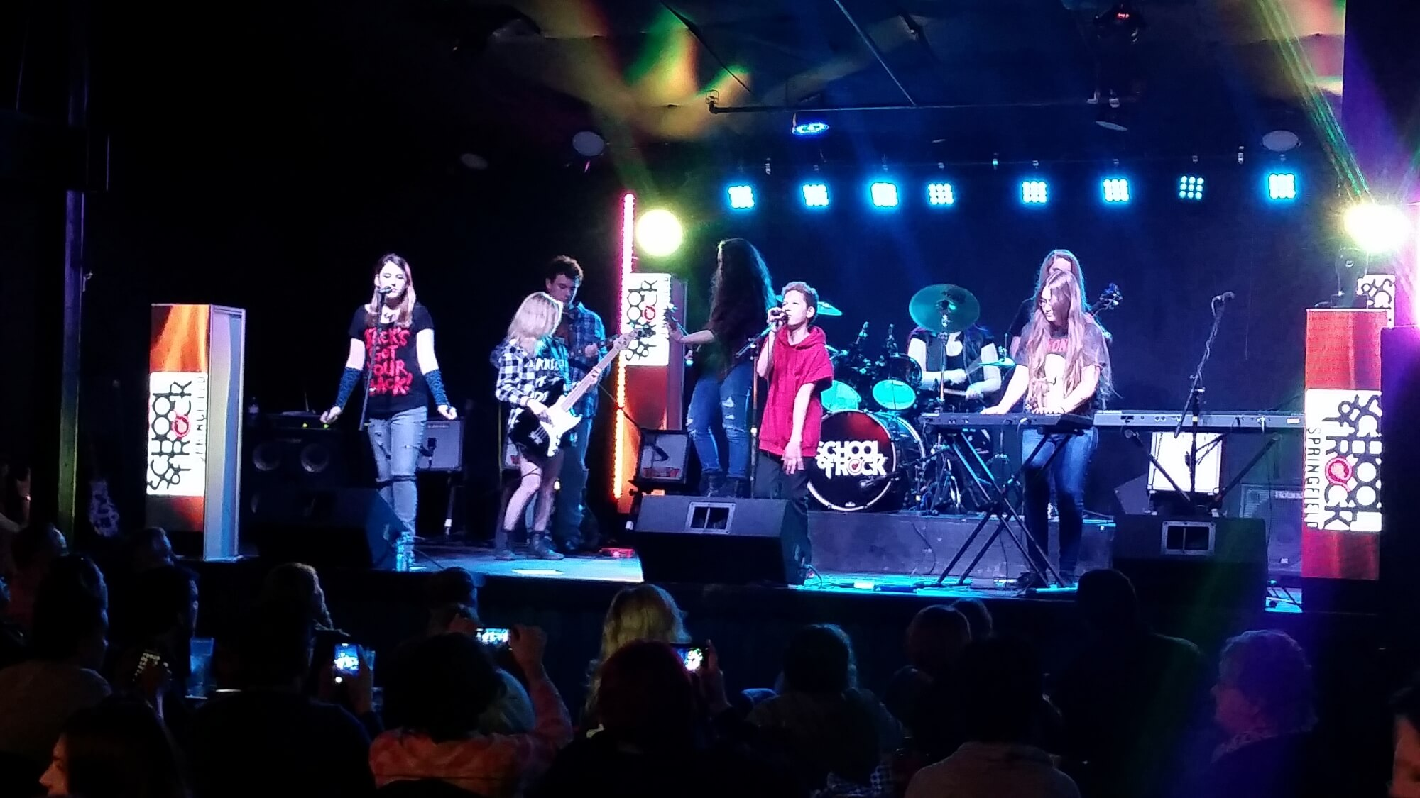 Students performing at Krave.