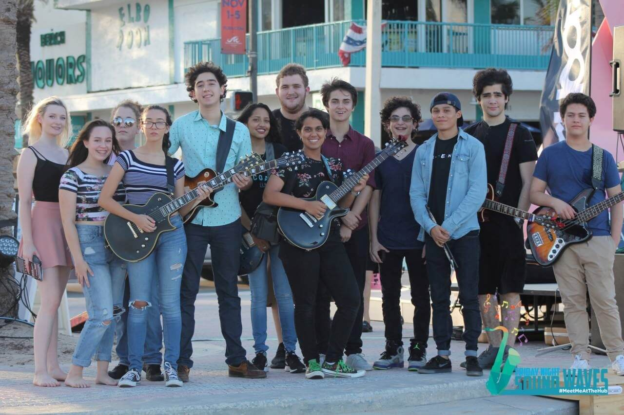 Our kids performing in Fort Lauderdale at Friday Night Sound Waves.