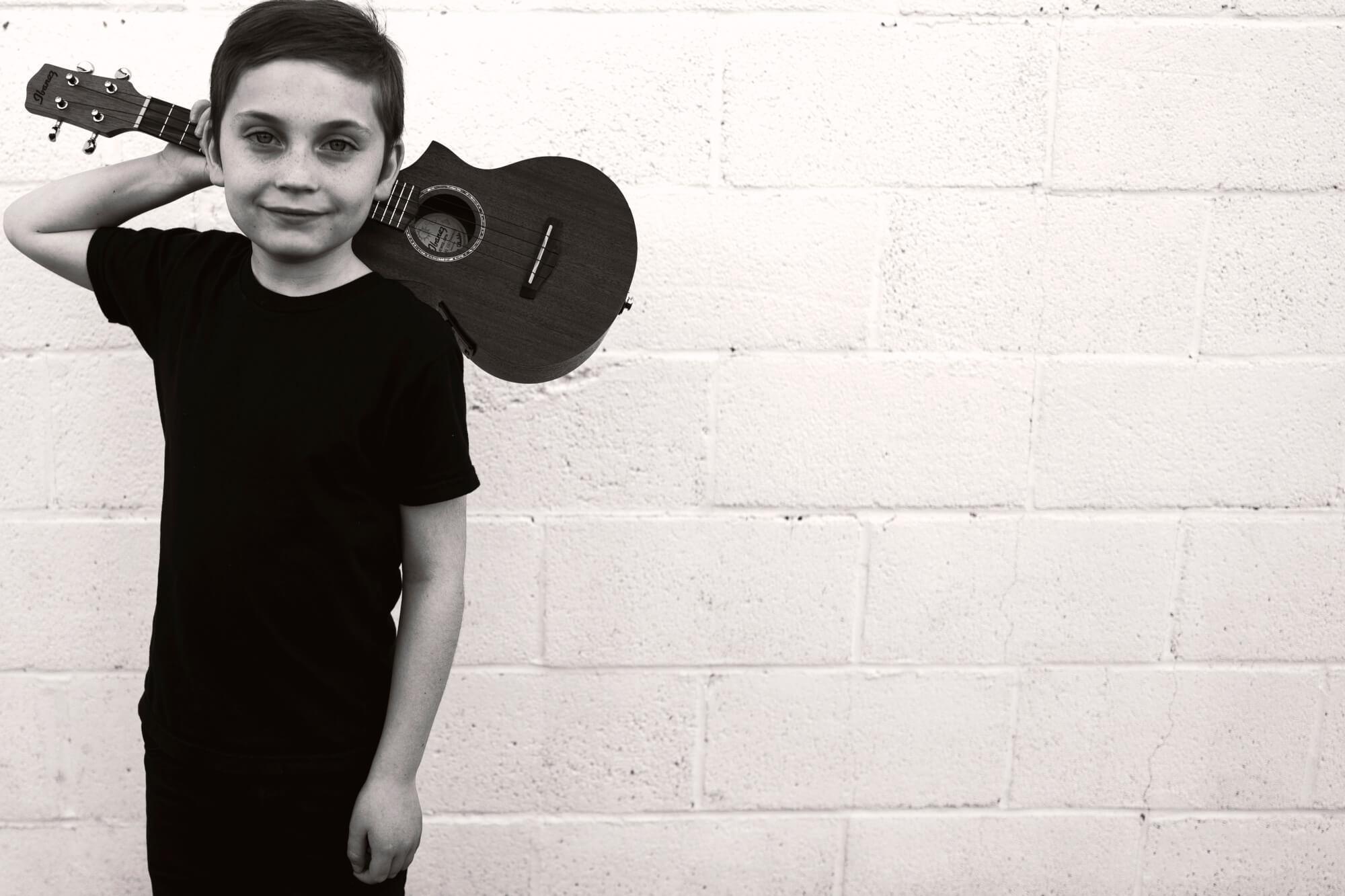 Oscar's first instrument.