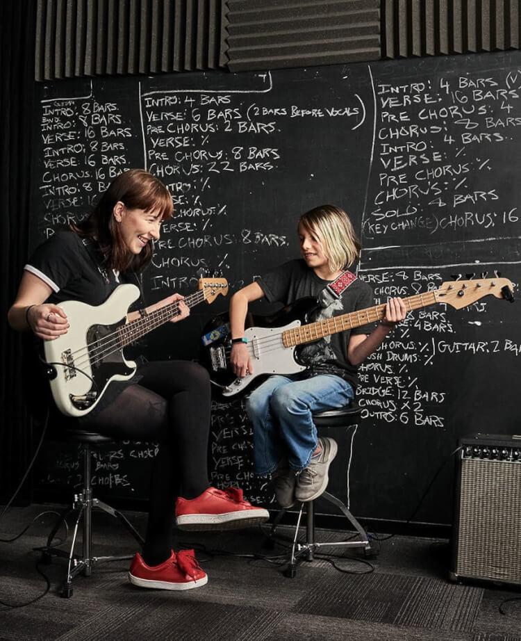 School of Rock offers music programs for kids, teens, preschoolers, and adults