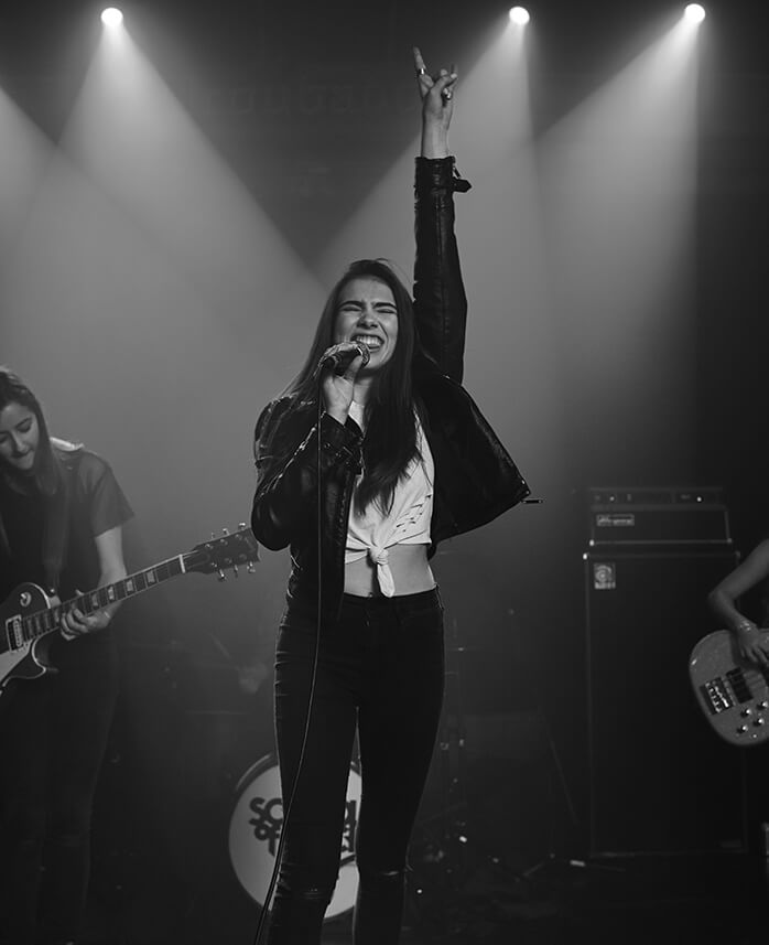 Hitting the stage as a School of Rock student builds confidence