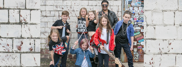 Rock 101 music program for kids and beginners