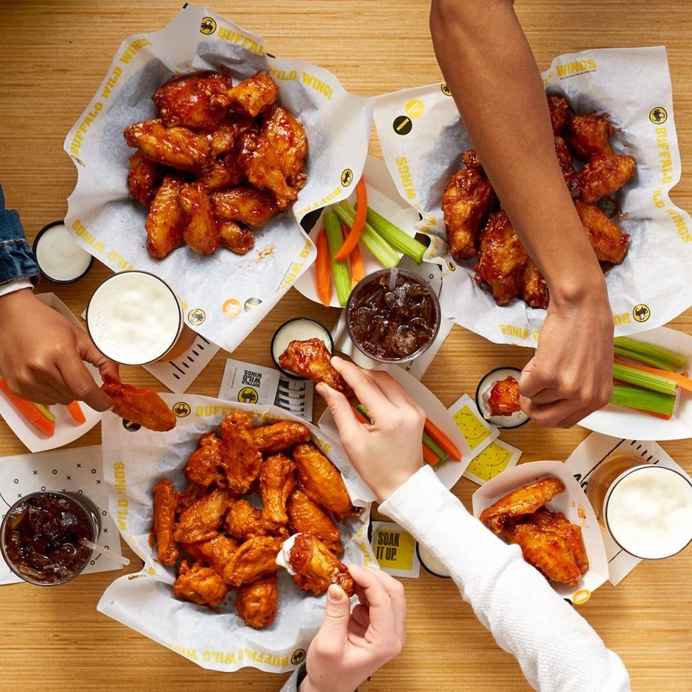 Background image for Blazin' Rewards, the loyalty program of Buffalo Wild Wings.