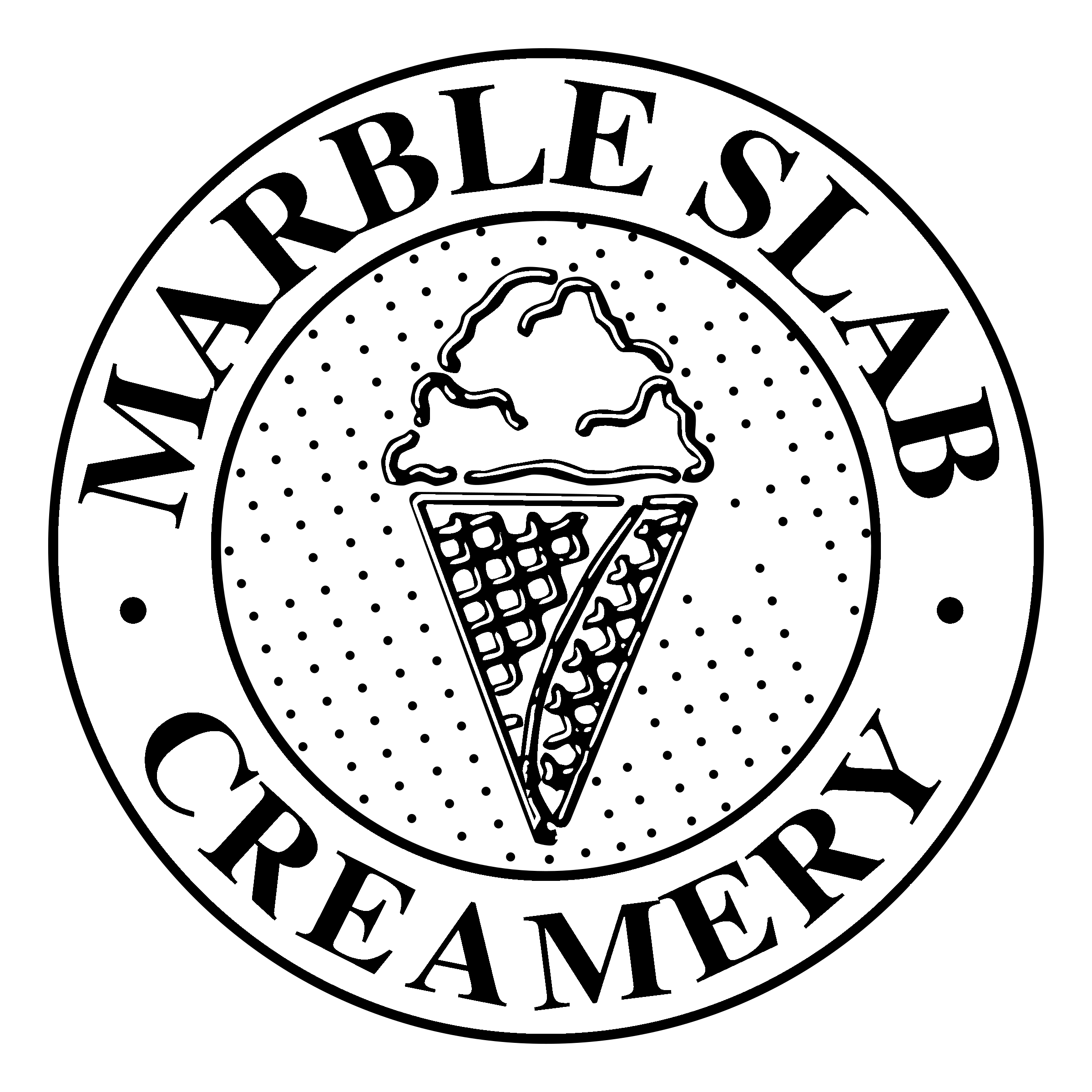 Logo for Slab Happy Rewards, the loyalty program of Marble Slab Creamery.