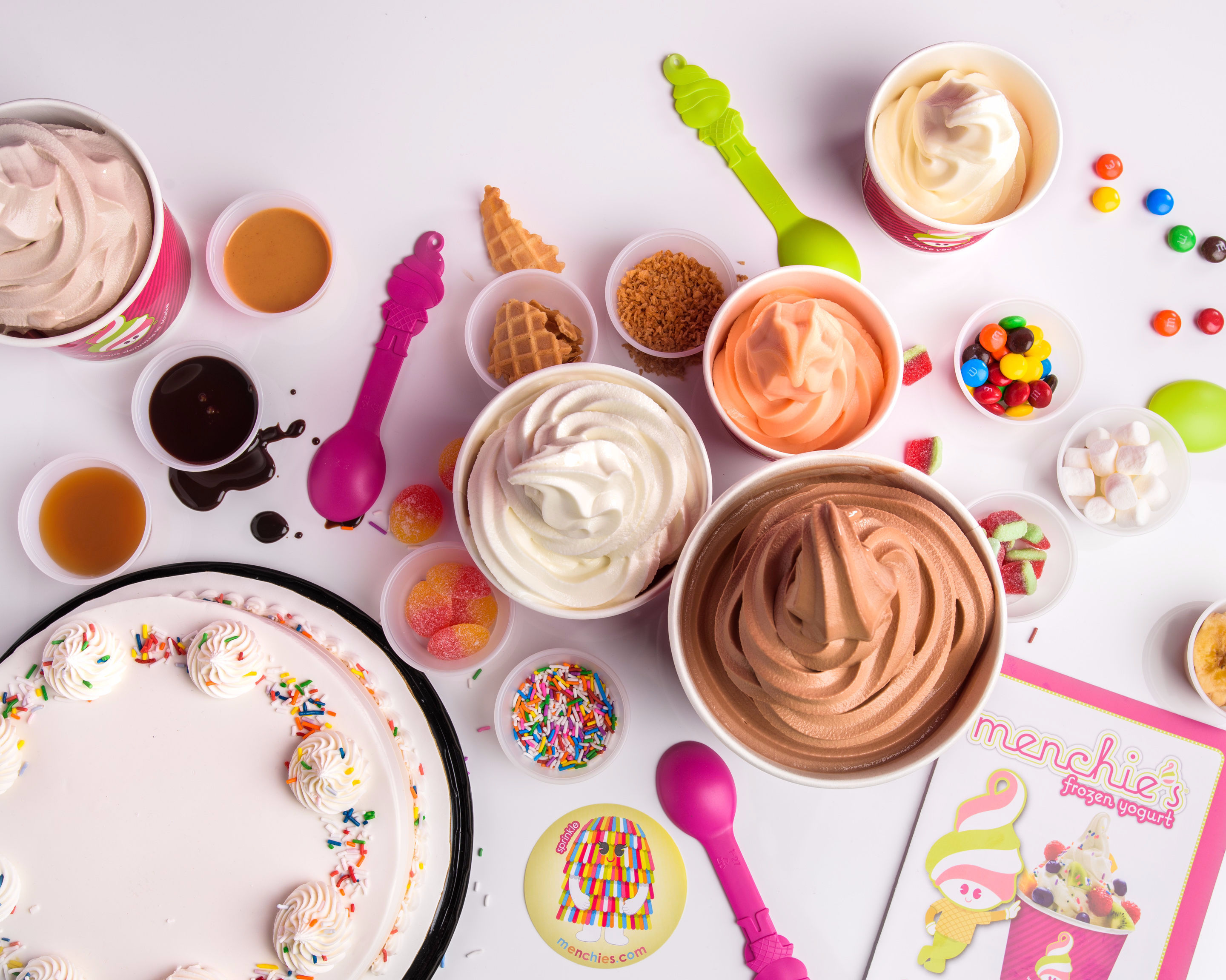 Background image for My Smileage, the loyalty program of Menchie's Frozen Yogurt.
