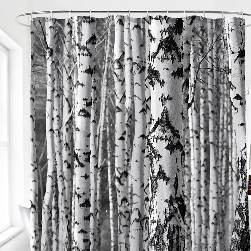 Abstract Black Shower Curtain