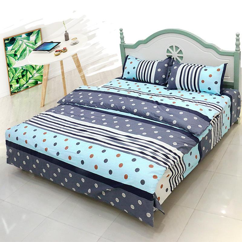 Polka Dots and Stripes 4-Piece Bedding Set