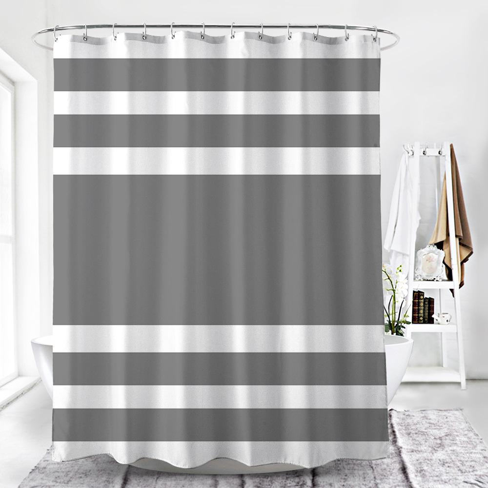 Thick Stripes Shower Curtain