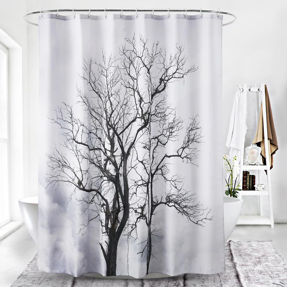 Silhouette Meadow Shower Curtain
