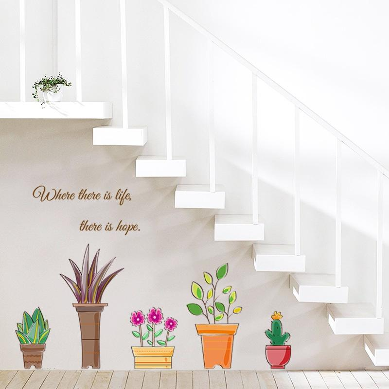 Potted Plant Wall Sticker
