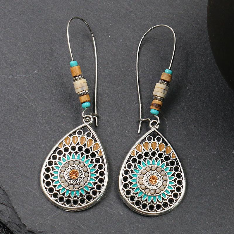 Colorful Boho Water Drop Earrings
