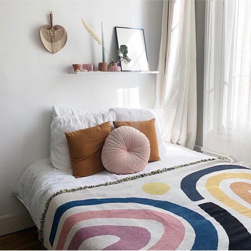 Color Strips Throw Blanket