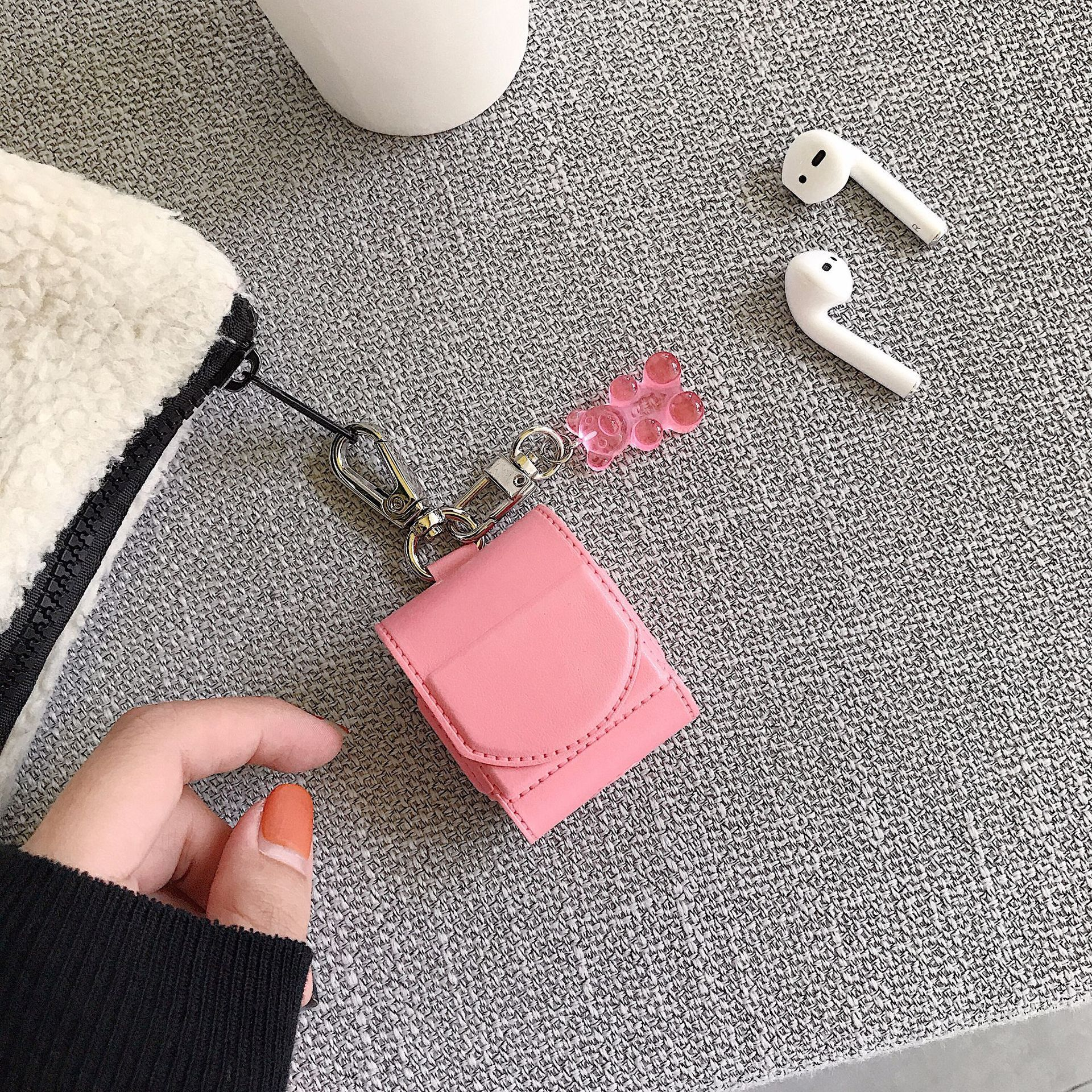 Pink Backpack AirPods Case